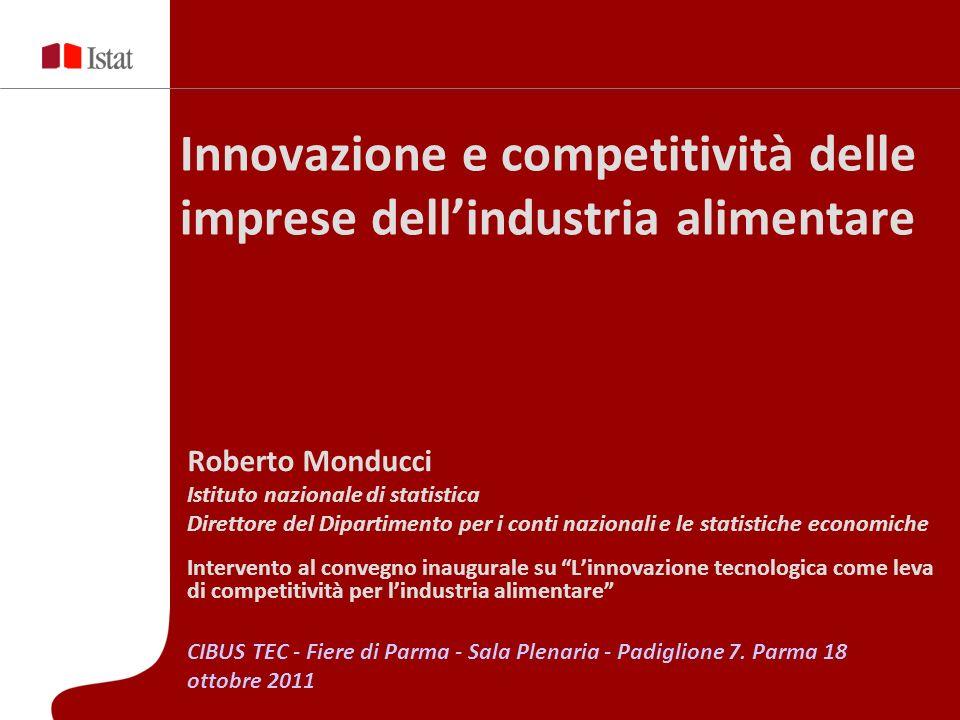 Innovazione e competitività delle imprese dell'industria alimentare