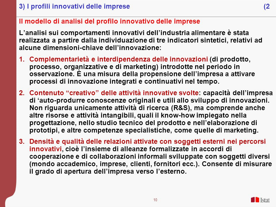 3) I profili innovativi delle imprese (2