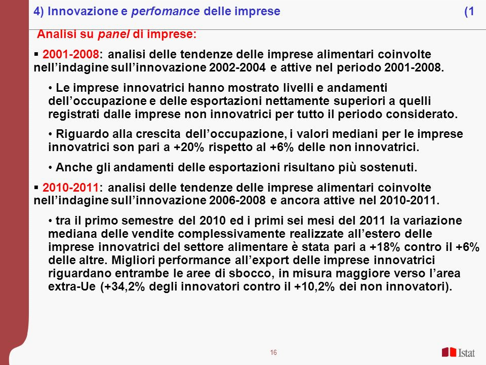 4) Innovazione e perfomance delle imprese (1