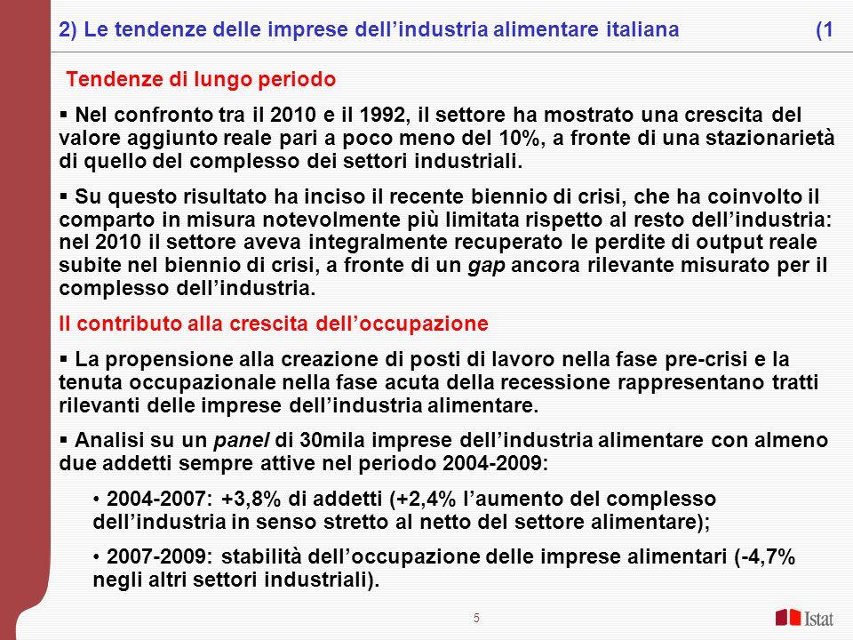 2) Le tendenze delle imprese dell'industria alimentare italiana (1
