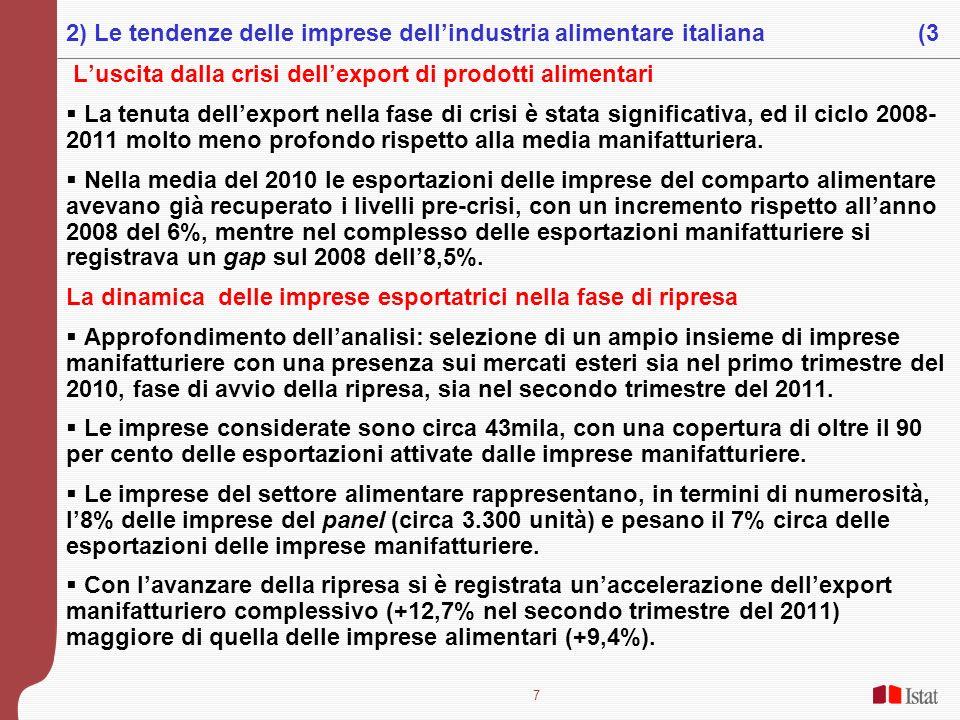 2) Le tendenze delle imprese dell'industria alimentare italiana (3