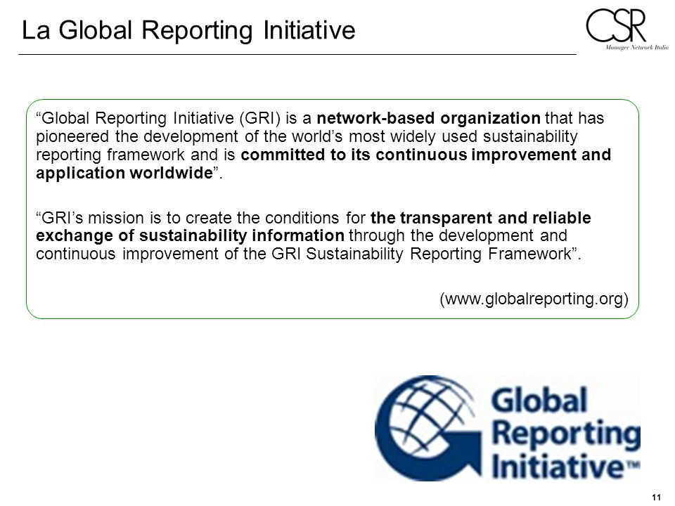 La Global Reporting Initiative
