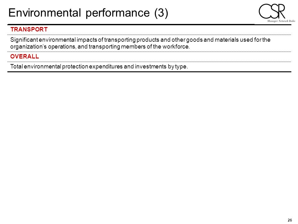Environmental performance (3)