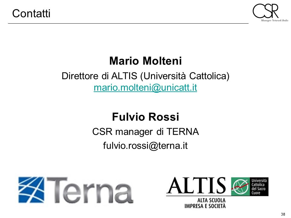 Direttore di ALTIS (Università Cattolica) mario.molteni@unicatt.it