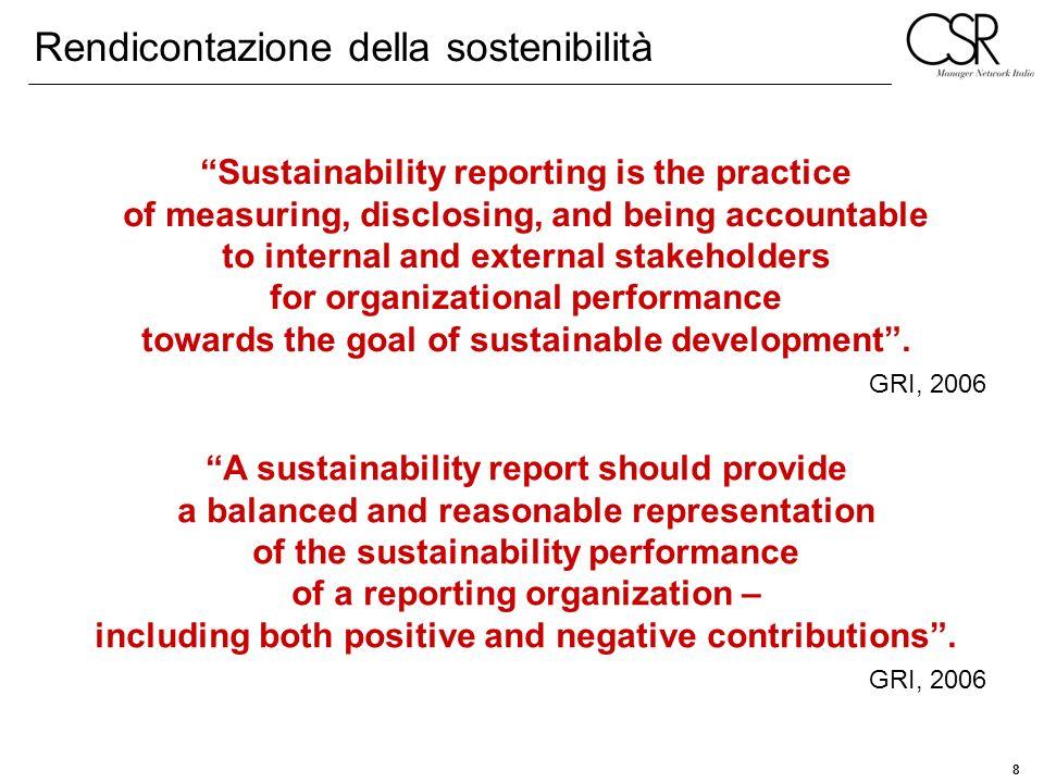 Rendicontazione della sostenibilità