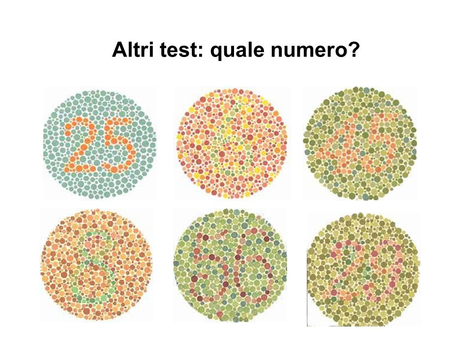 Altri test: quale numero
