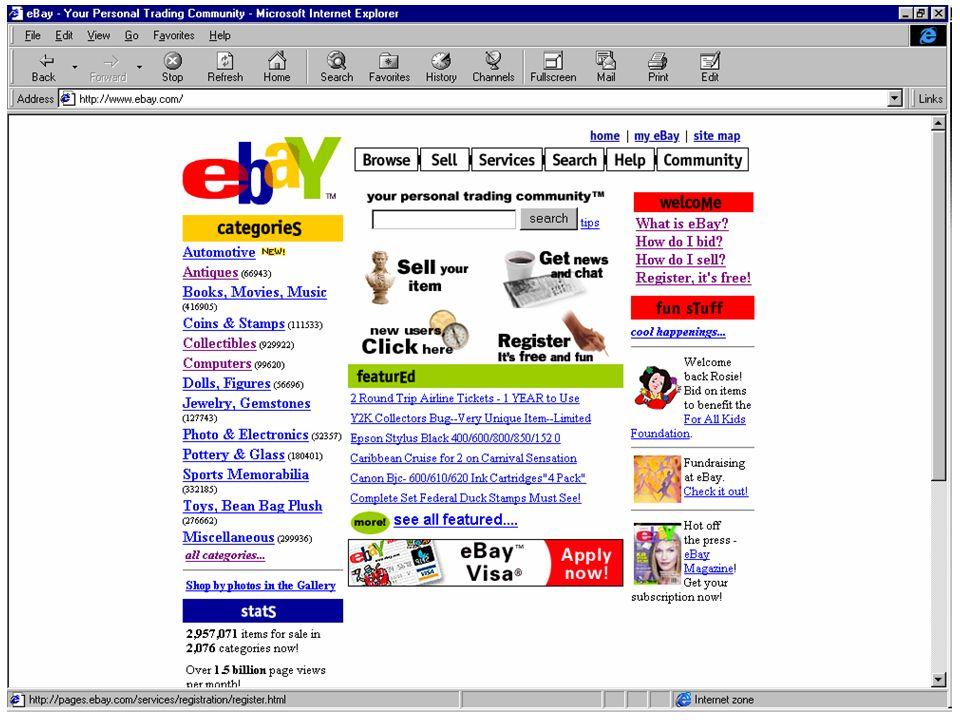 ebay.com, ottobre 1999