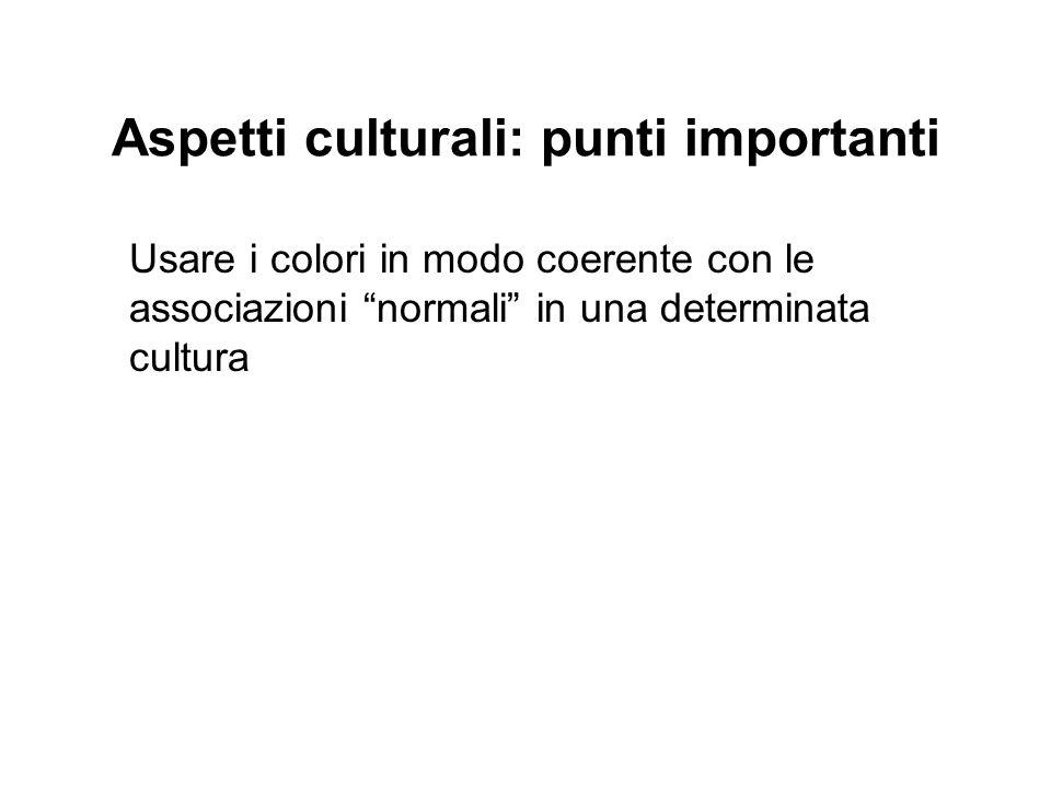 Aspetti culturali: punti importanti