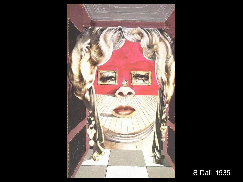 Salvador Dalì Face of Mae West which may be used as an apartement, circa 1935 S.Dalì, 1935