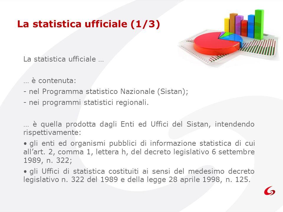 La statistica ufficiale (1/3)
