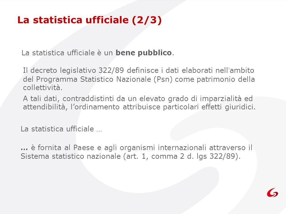 La statistica ufficiale (2/3)