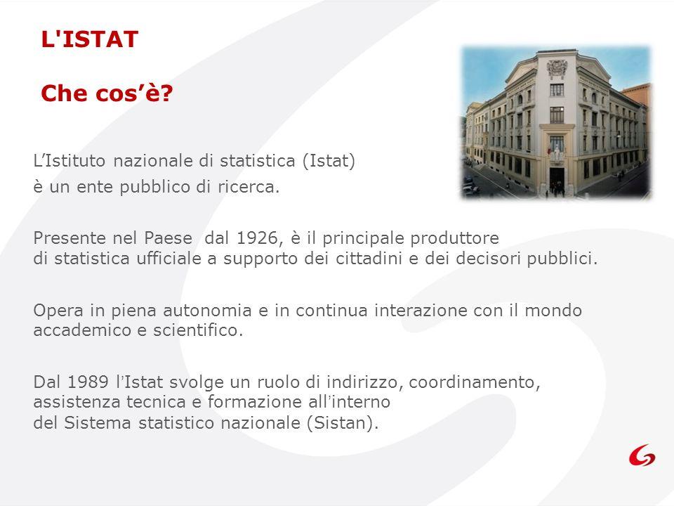 L ISTAT Che cos'è L'Istituto nazionale di statistica (Istat)