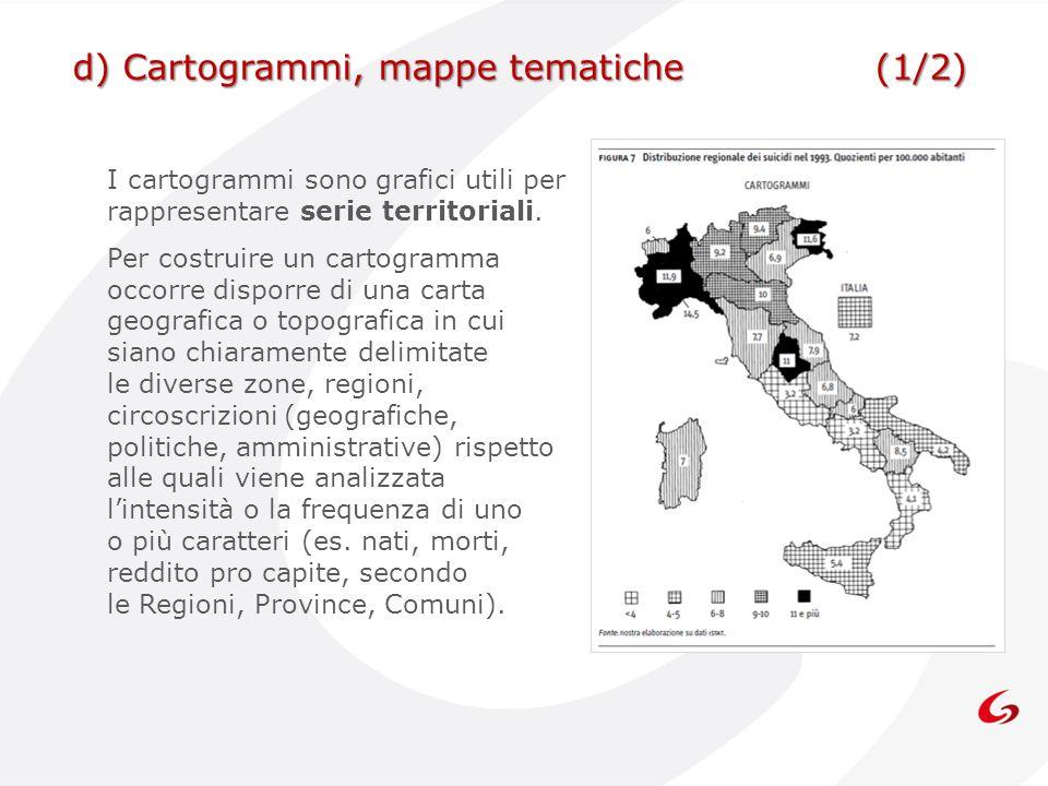 d) Cartogrammi, mappe tematiche (1/2)