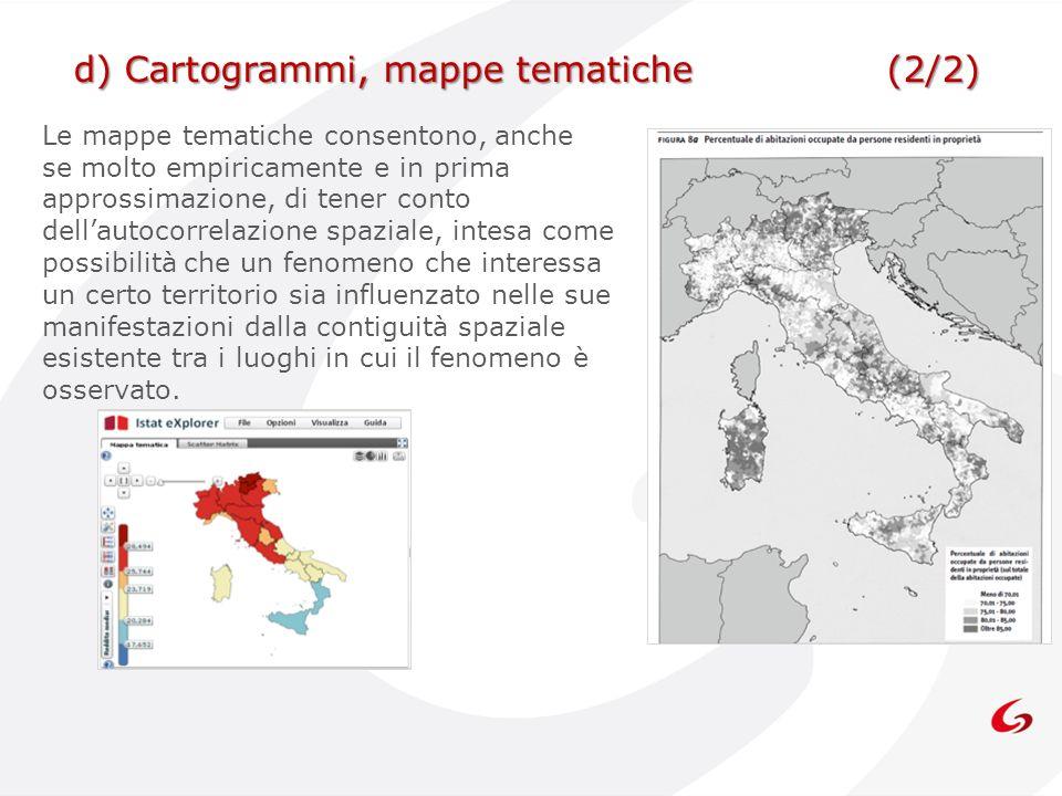 d) Cartogrammi, mappe tematiche (2/2)