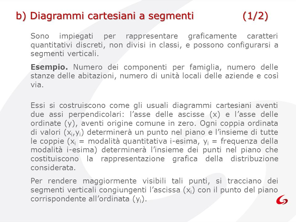 b) Diagrammi cartesiani a segmenti (1/2)