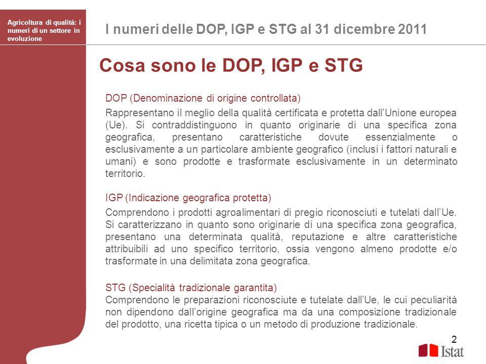 Cosa sono le DOP, IGP e STG