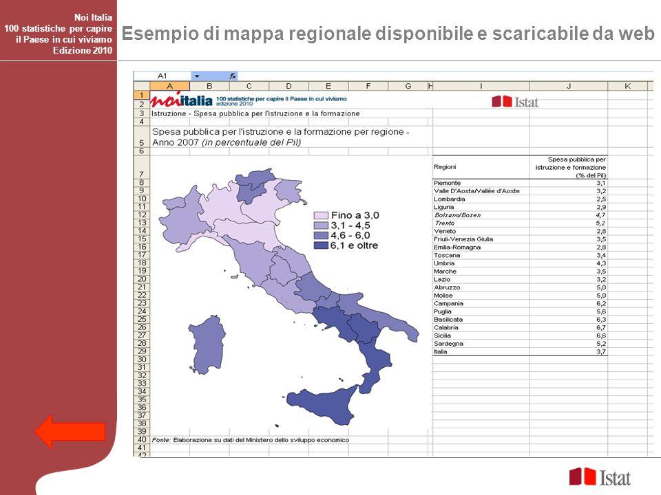 Esempio di mappa regionale disponibile e scaricabile da web