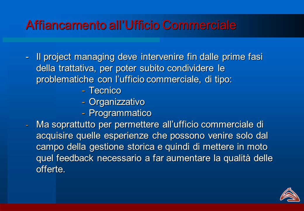 Affiancamento all'Ufficio Commerciale
