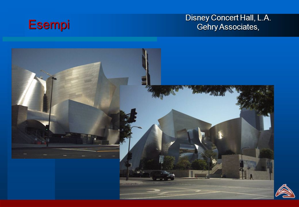 Esempi Disney Concert Hall, L.A. Gehry Associates,