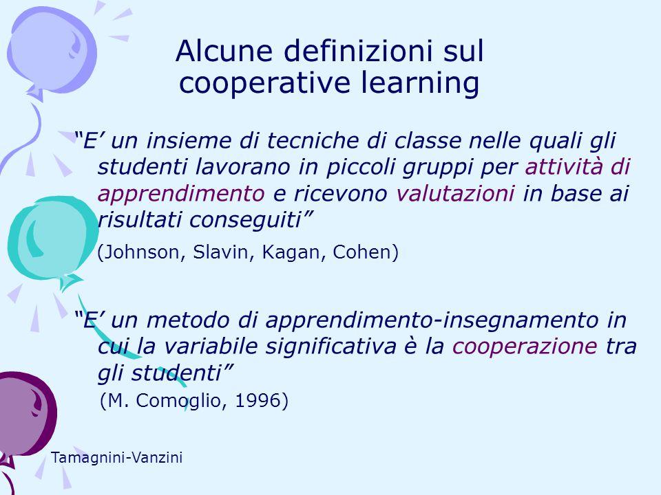 Alcune definizioni sul cooperative learning