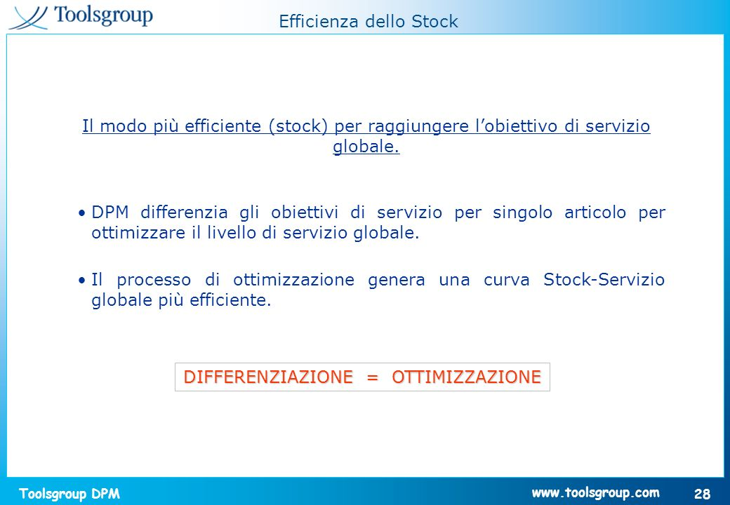 Efficienza dello Stock