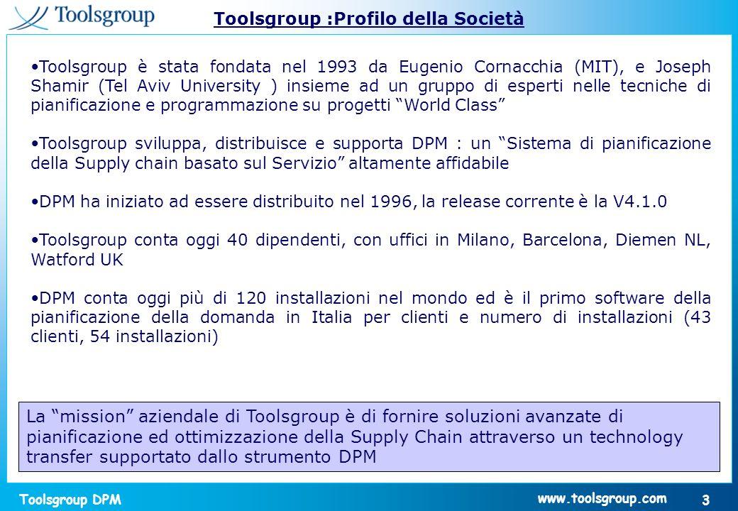 Toolsgroup :Profilo della Società