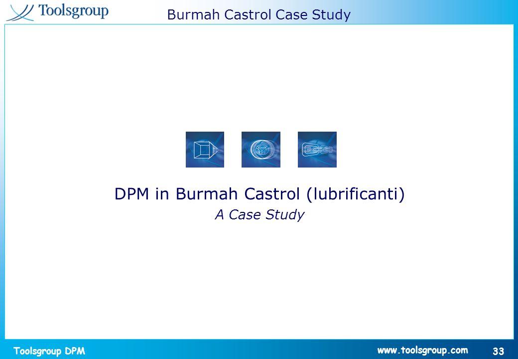 DPM in Burmah Castrol (lubrificanti)
