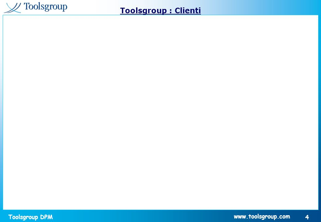Toolsgroup : Clienti