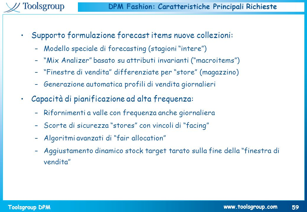 DPM Fashion: Caratteristiche Principali Richieste