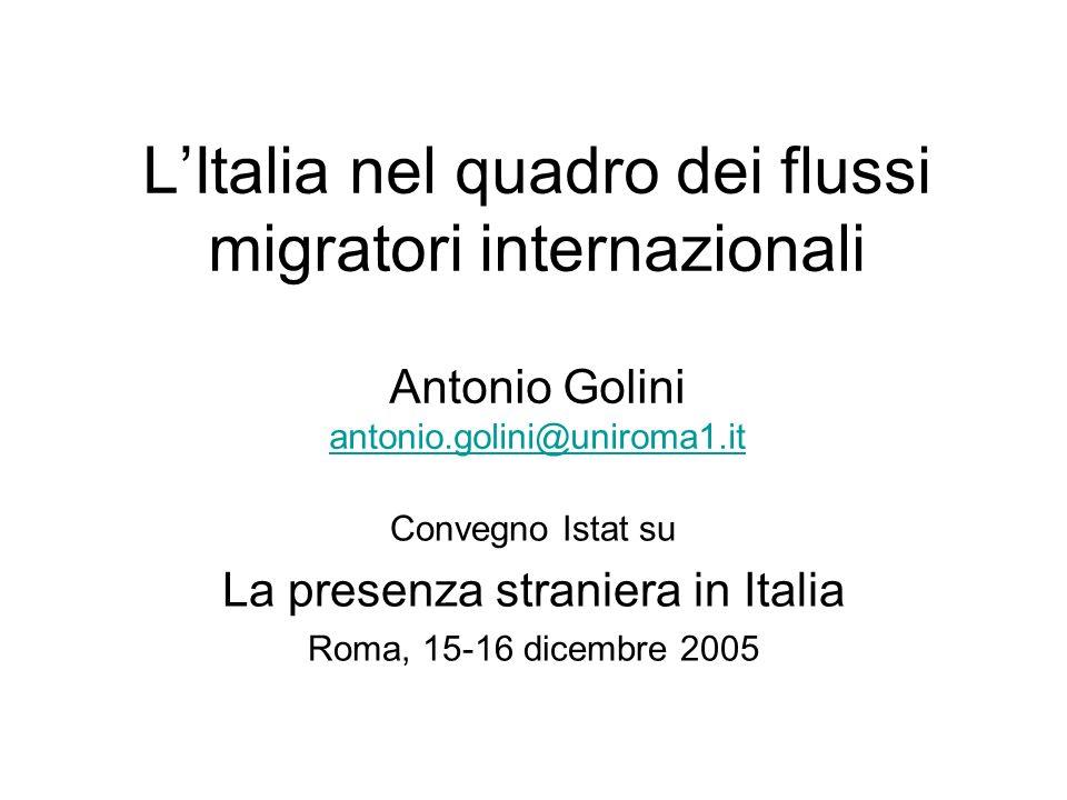 La presenza straniera in Italia