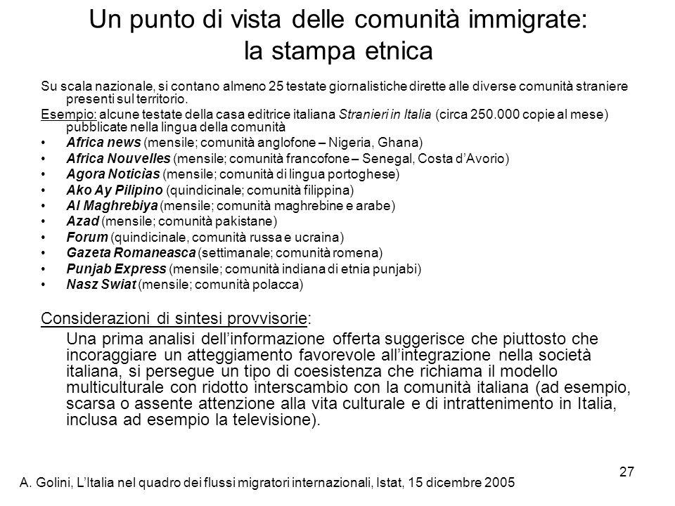 Un punto di vista delle comunità immigrate: la stampa etnica