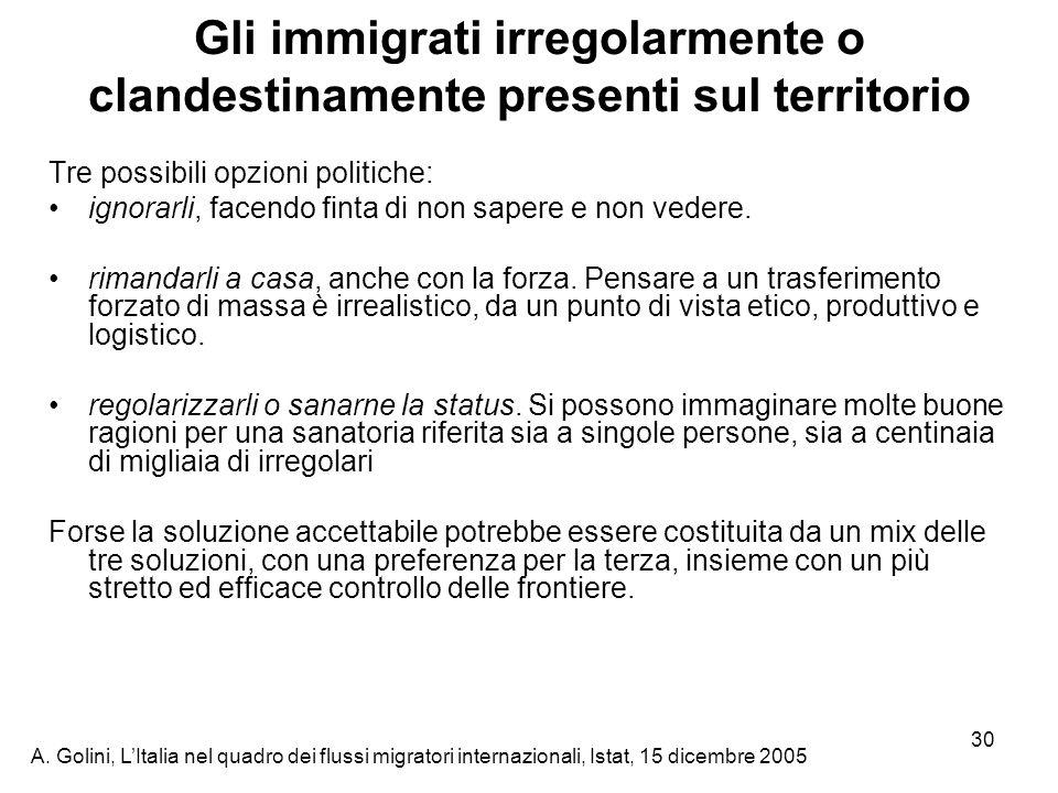 Gli immigrati irregolarmente o clandestinamente presenti sul territorio