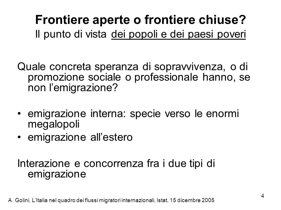 Frontiere aperte o frontiere chiuse