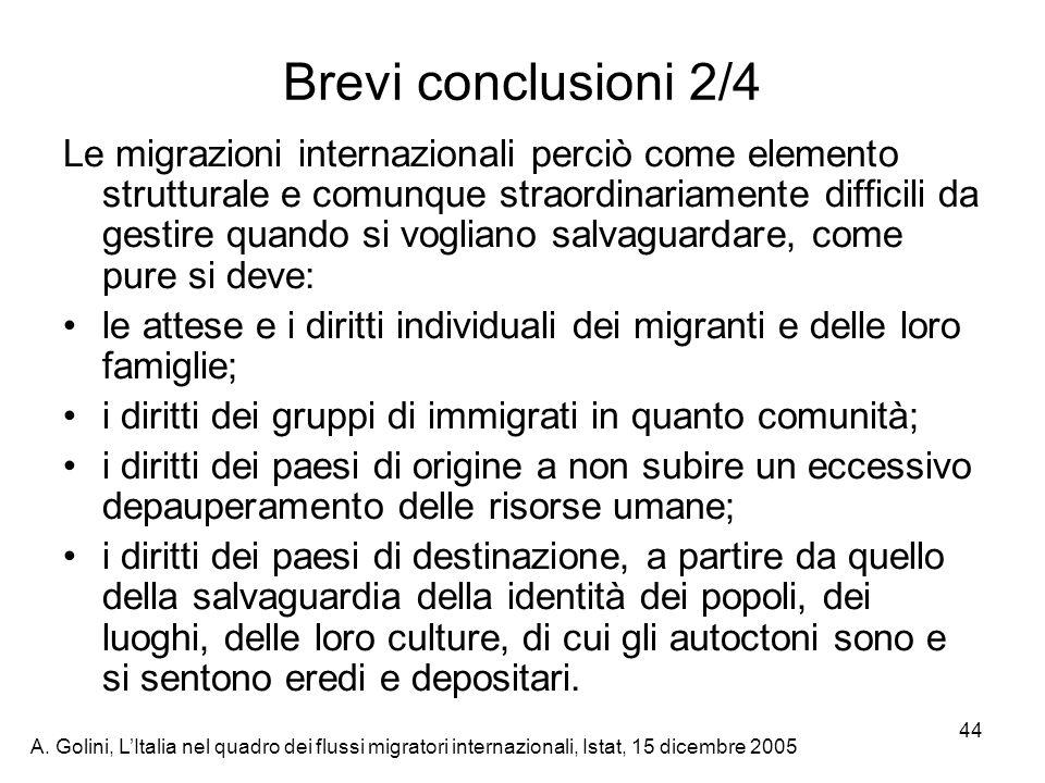 Brevi conclusioni 2/4