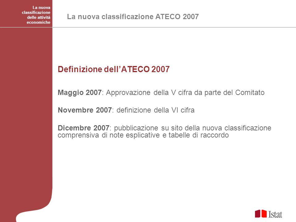 Definizione dell'ATECO 2007