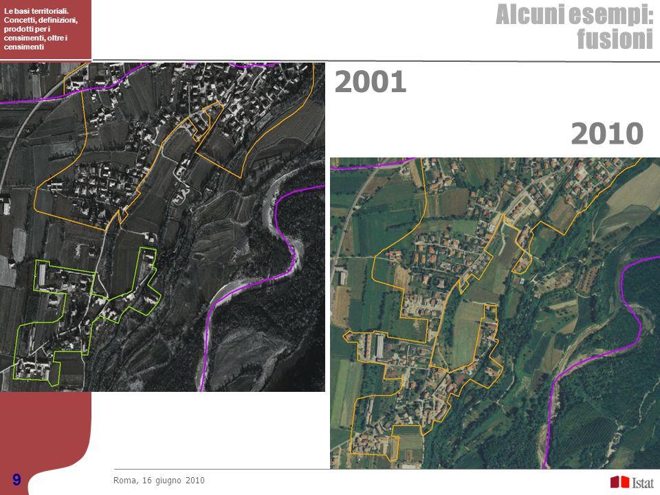2001 2010 Alcuni esempi: fusioni 9 Roma, 16 giugno 2010