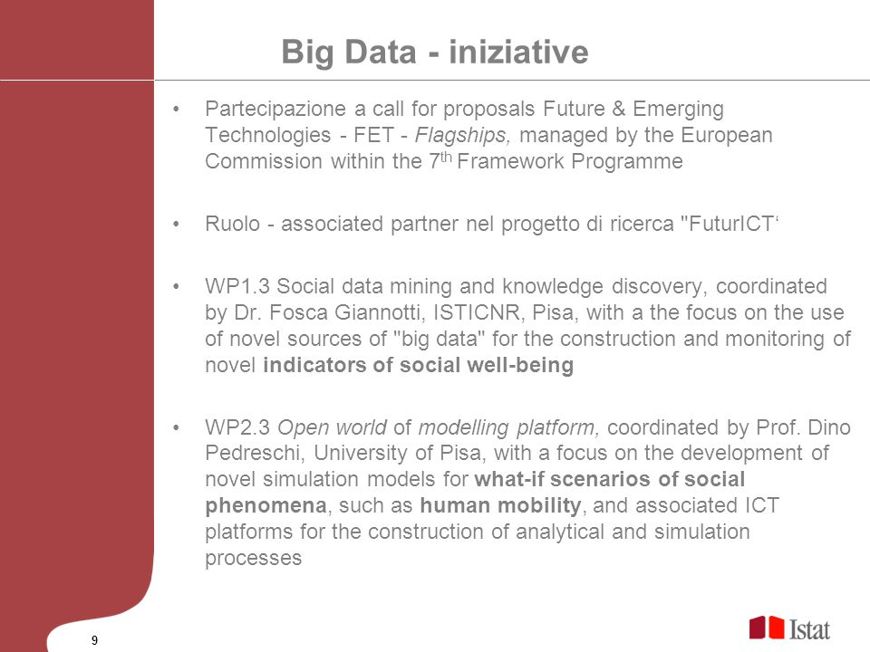 Big Data - iniziative