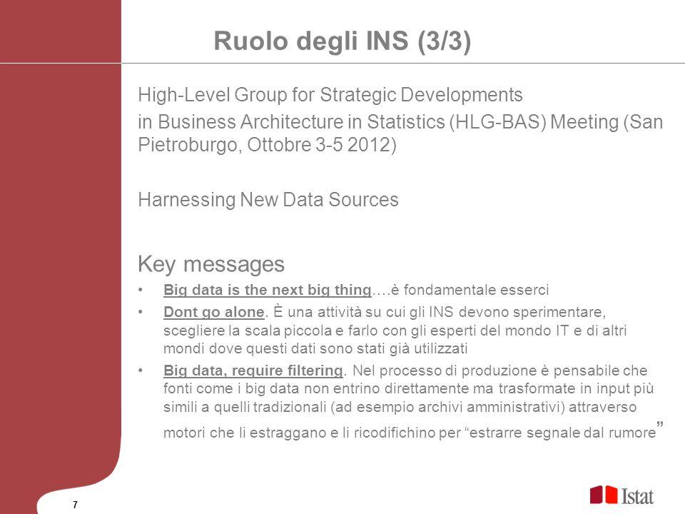 Ruolo degli INS (3/3) Key messages