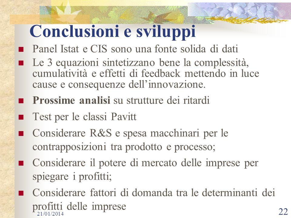 Conclusioni e sviluppi