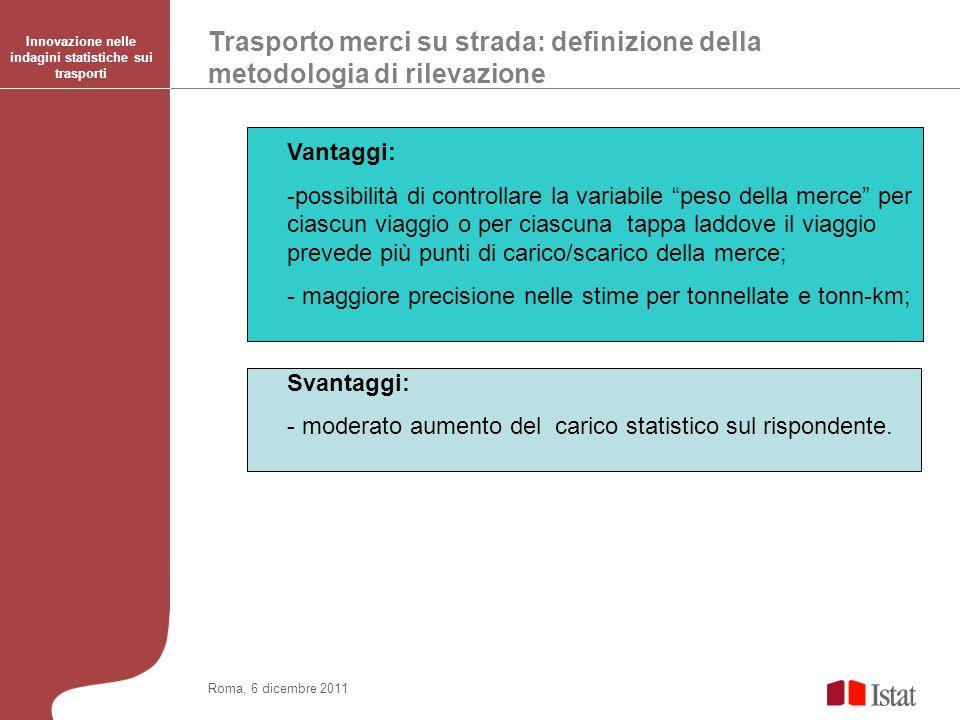 Innovazione nelle indagini statistiche sui trasporti
