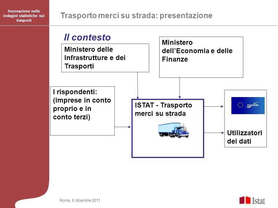 Il contesto Trasporto merci su strada: presentazione