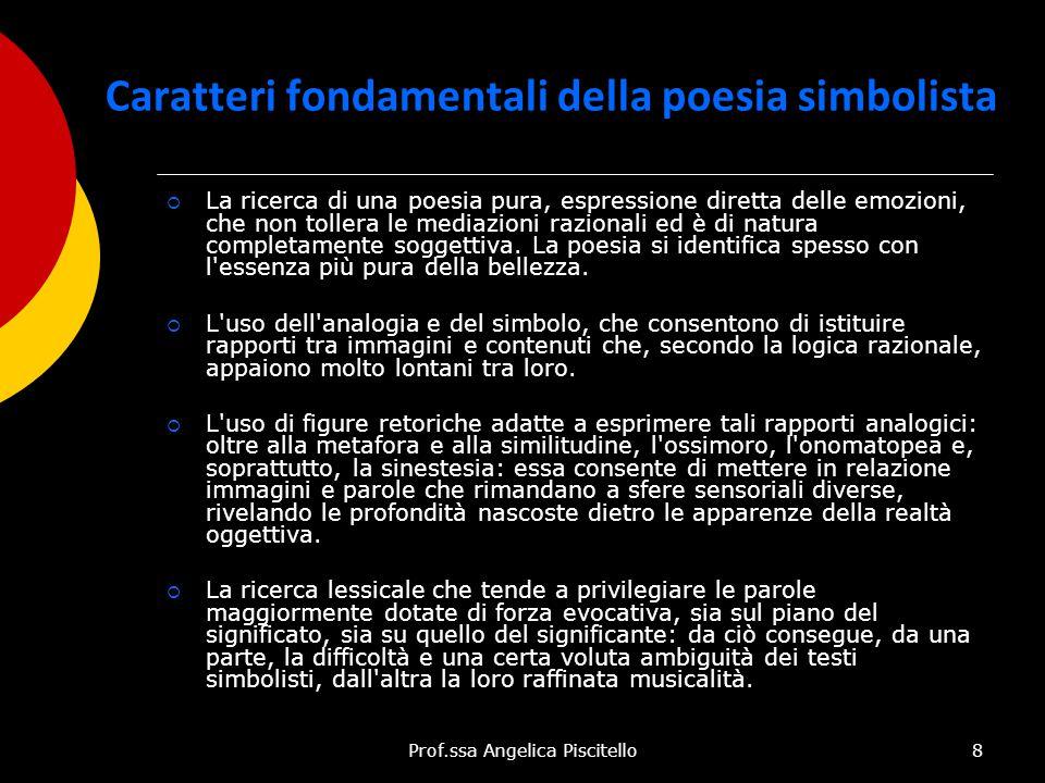 Caratteri fondamentali della poesia simbolista