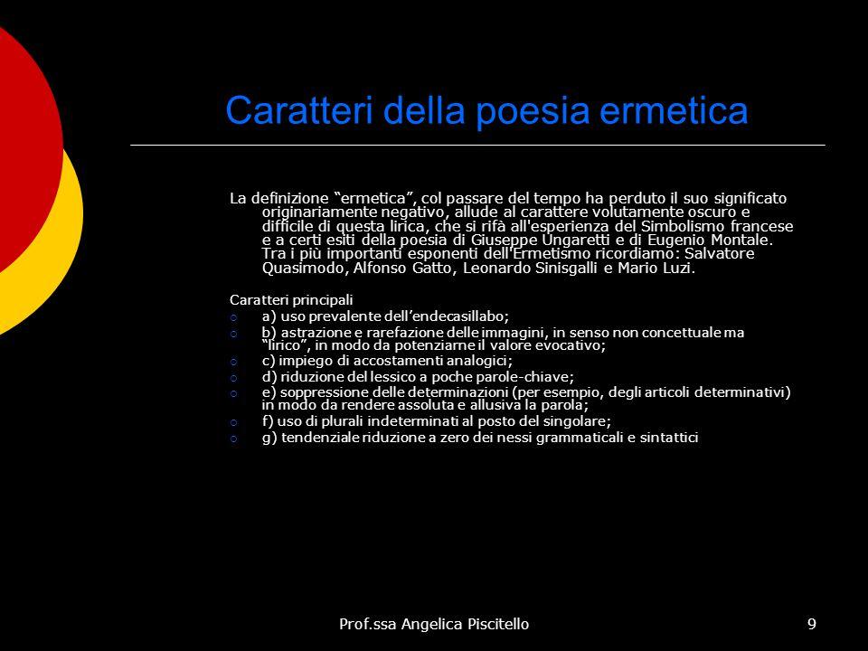 Caratteri della poesia ermetica