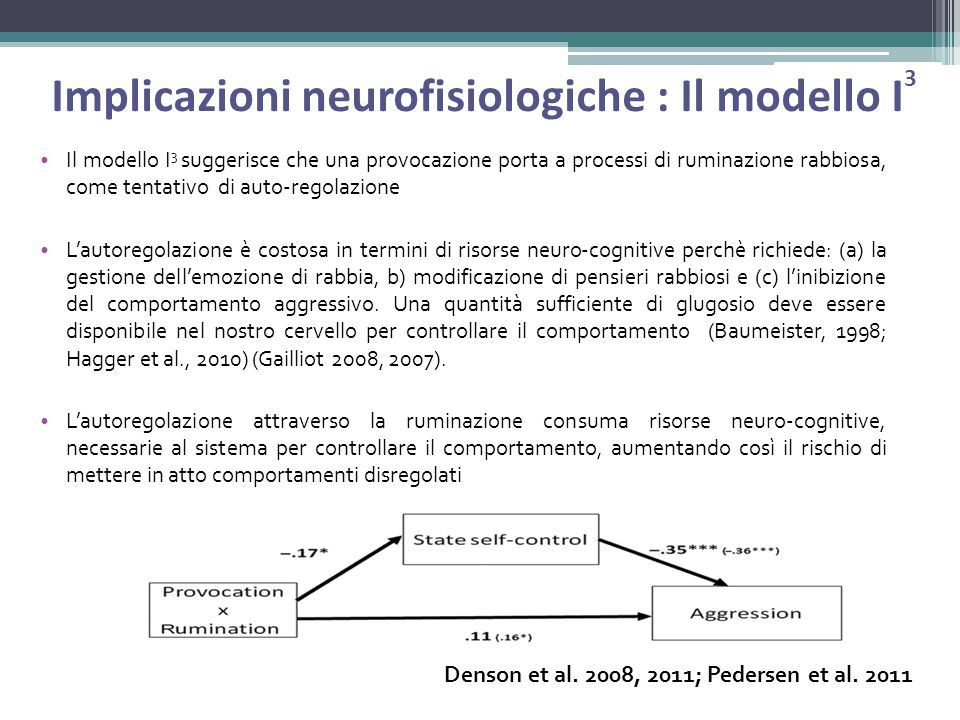 Implicazioni neurofisiologiche : Il modello I