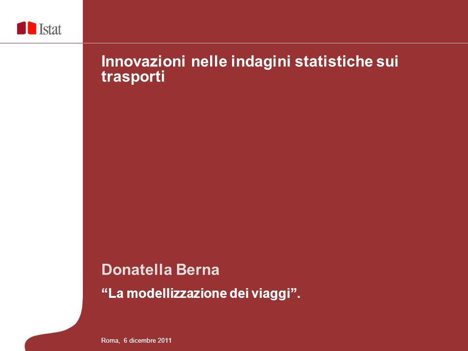 Innovazioni nelle indagini statistiche sui trasporti