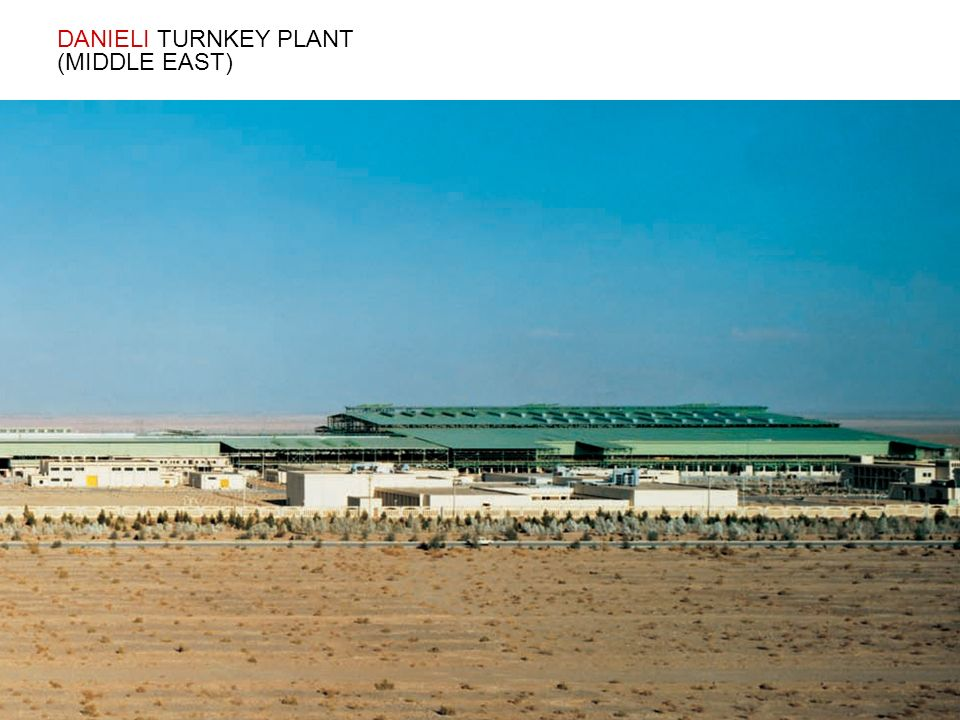 DANIELI TURNKEY PLANT (MIDDLE EAST)