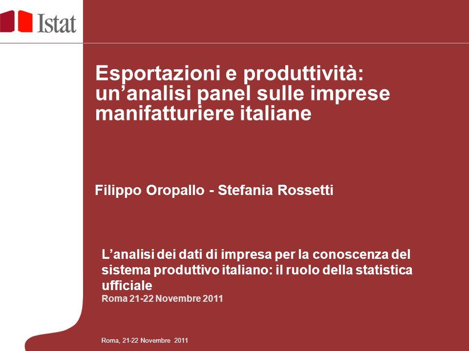 Esportazioni e produttività: un'analisi panel sulle imprese manifatturiere italiane