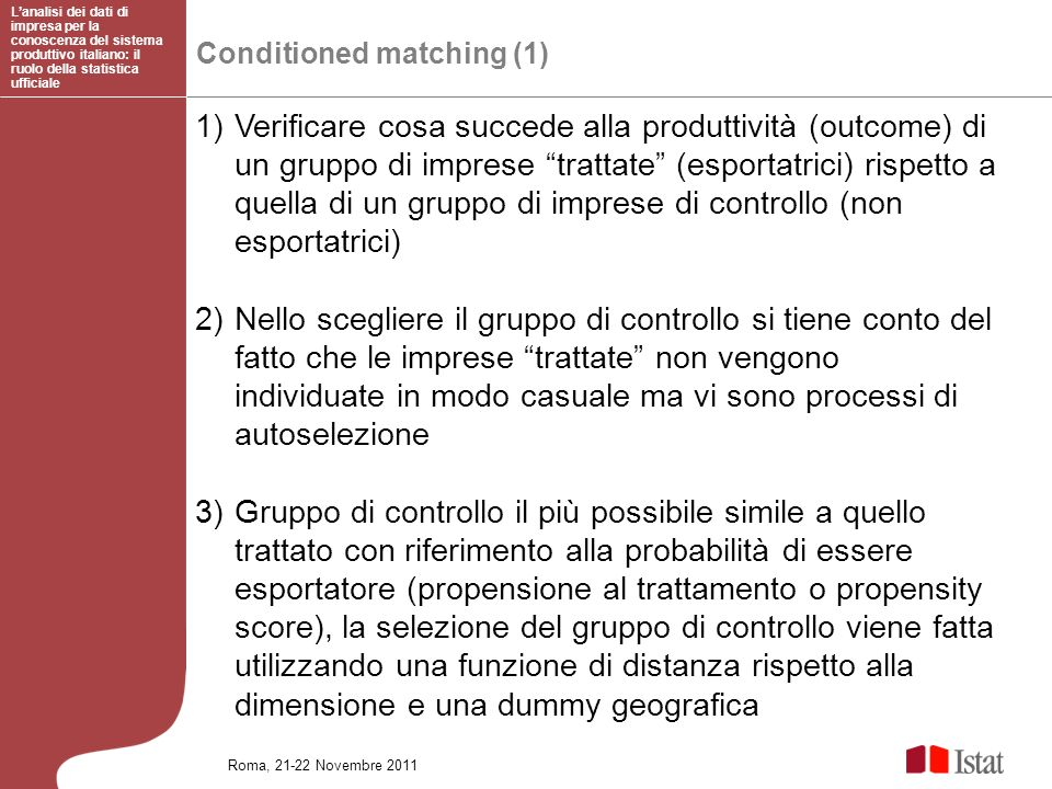 L'analisi dei dati di impresa per la conoscenza del sistema produttivo italiano: il ruolo della statistica ufficiale