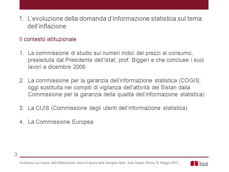 L'evoluzione della domanda d'informazione statistica sul tema dell'inflazione