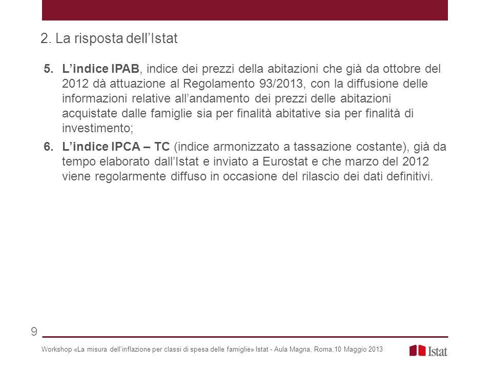 2. La risposta dell'Istat